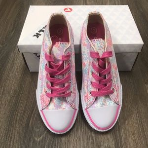 Girl's Shoes (Size 2) NWT- pink floral print